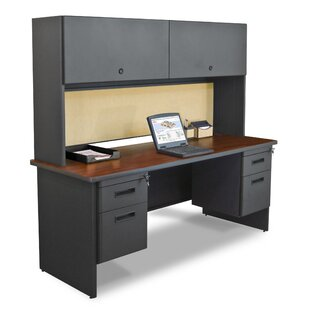 Crivello Computer Desk with Hutch