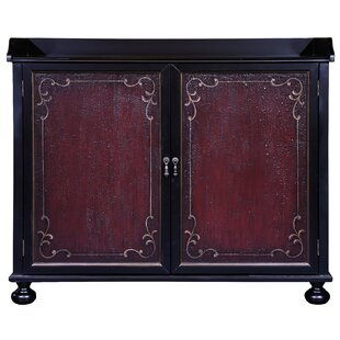 Vega Two Tone Hand Painted Bar Cabinet by Astoria Grand