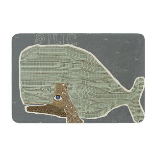 Whale by Bri Buckley Bath Mat