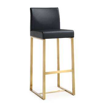 Solid Wood Back Nordic Bar Stool Home Modern Minimalist Bar Chair Lift Rotating Front Desk High Stool Bar Stool Crease-Resistance Furniture Bar Chairs