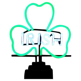 Irish Shamrock Neon Sculpture By Neonetics