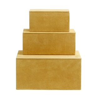 Faux Leather 3 Piece Box Set By Nordal