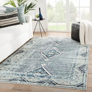 Varney Medallion Beige/Blue Indoor/Outdoor Area Rug