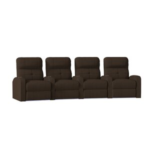 Tufted Home Theater Curved Row Seating (Row of 4)