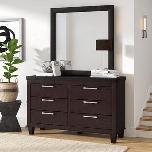 Look for Epicurus 6 Drawer Double Dresser with Mirror ByWade Logan