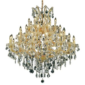 Regina Traditional 37-Light Royal Cut Crystal Chandelier