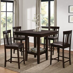 Wooden 5 Piece Counter Height Breakfast Nook Dining Set by Red Barrel Studio
