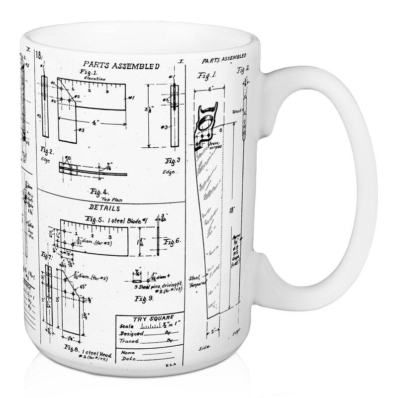 Williston forge mcduffy blueprint coffee mug reviews wayfair mcduffy blueprint coffee mug malvernweather Choice Image