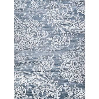 Canora Grey Ames Floral Blue Area Rug Wayfair