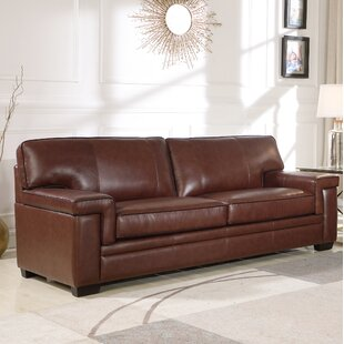 Cabott Leather Sofa by Three Posts