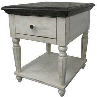 Brandon Vintage End Table by Ophelia & Co.