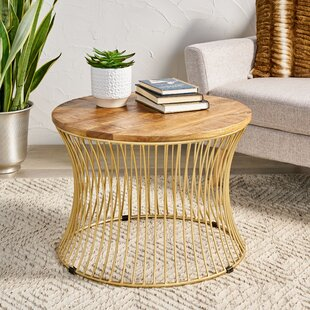 Cannock Drum Coffee Table by Bungalow Rose