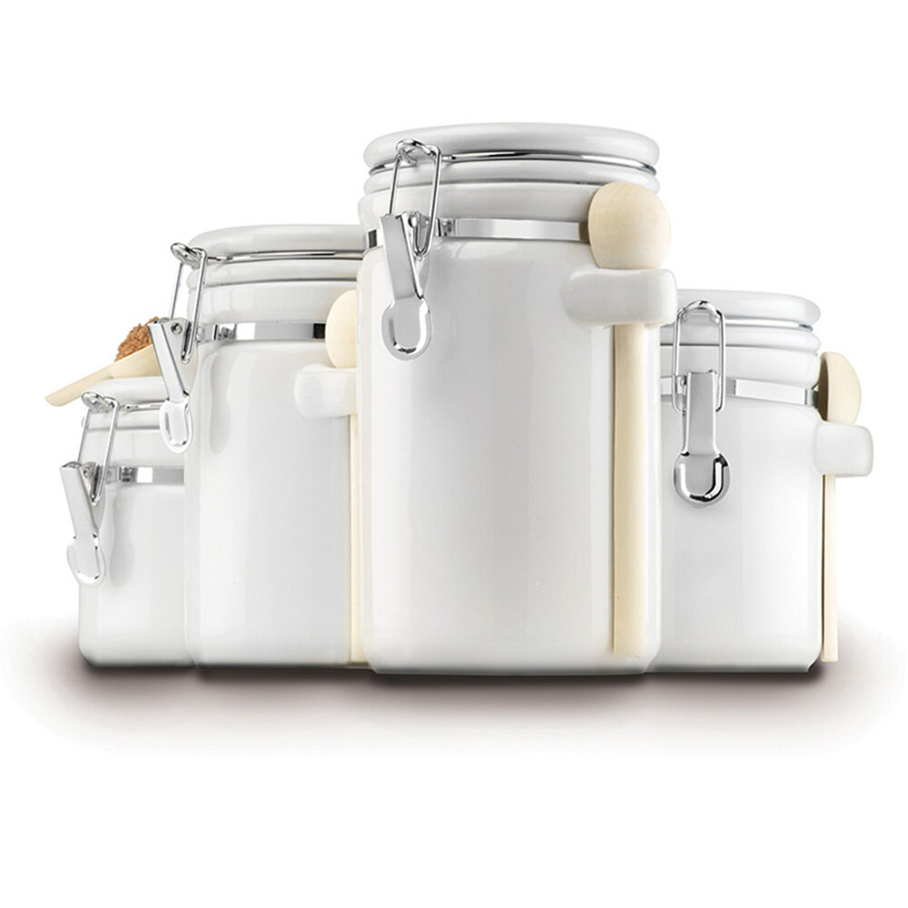 Anchor Hocking Ceramic 4 Piece Kitchen Canister Set & Reviews | Wayfair