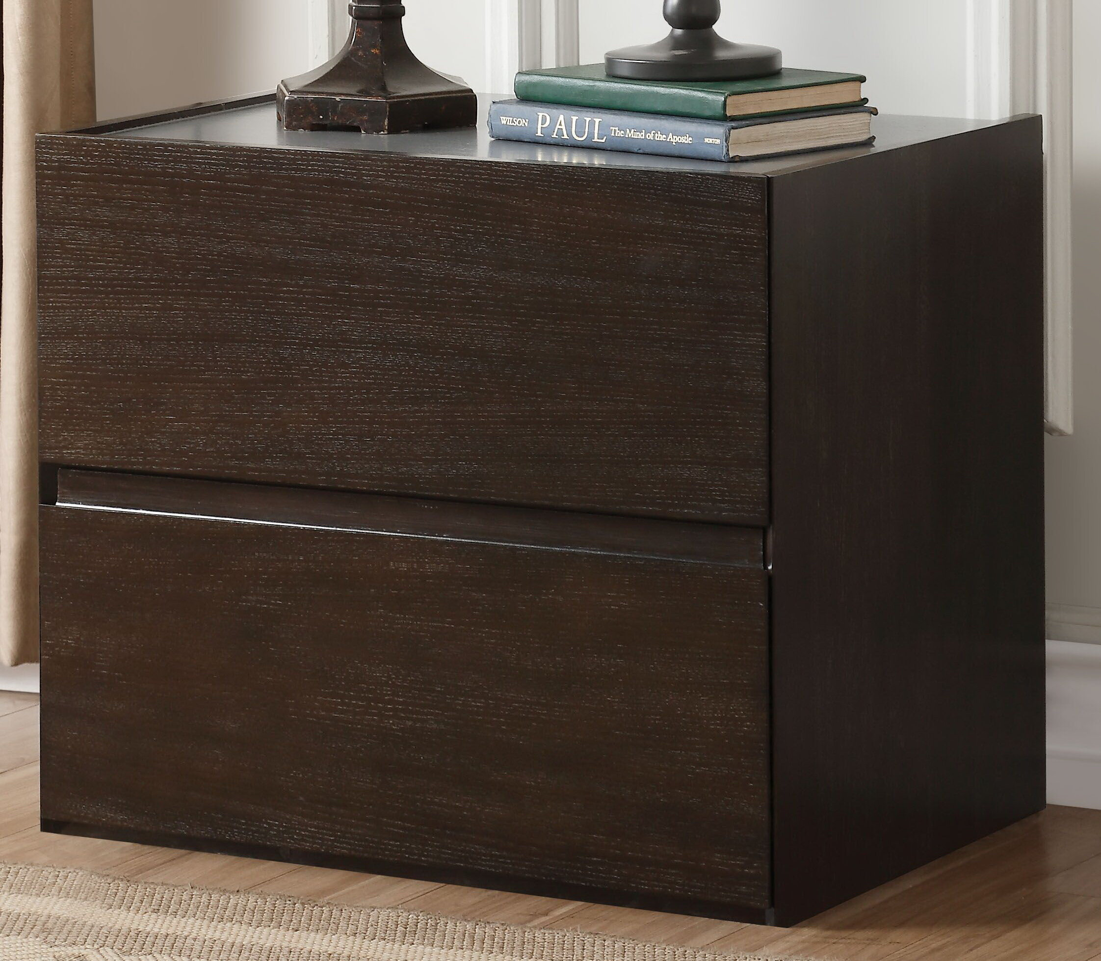 Forbell 2 Drawer Nightstand