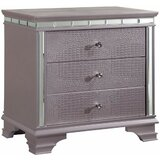 Tharpe 3 - Drawer Nightstand in Silver Rose by Rosdorf Park
