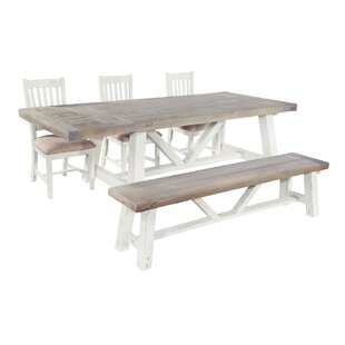 Review Berrydale Dining Set With 4 Chairs And 1 Bench