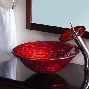 Novatto Misto Glass Circular Vessel Bathroom Sink