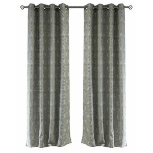 Lite Out Geometric Blackout Thermal Grommet Curtain Panels (Set of 2)