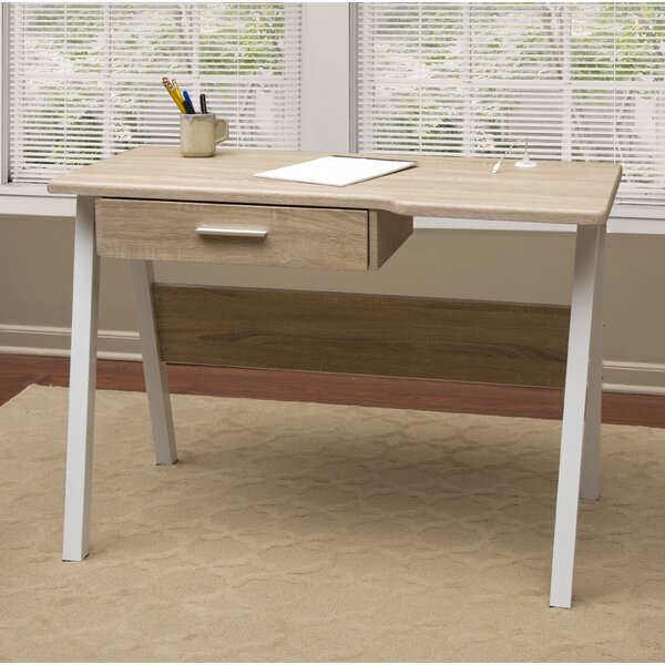 Union Rustic Rockland Basics Writing Desk With Drawer And Dual USB Charging  Station | Wayfair