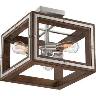 Graver 3-Light Semi Flush Moun..