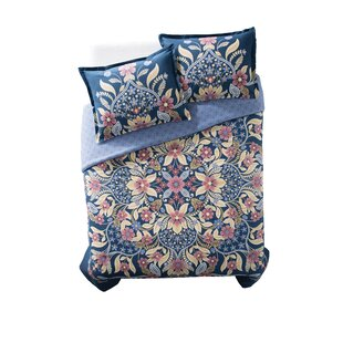 Meka 100% Cotton 3 Piece Reversible Comforter Set