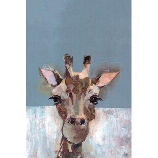 'Bonjour Giraffe' Canvas Art