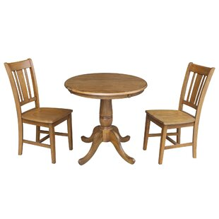 Polett 3 Piece Solid Wood Dining Set