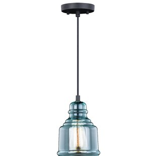 Pickett 1-Light Bell Pendant by Bungalow Rose
