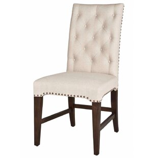 Unique Button Tufted Back Rest Upholstered Dining Chair (Set of 2)