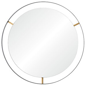 Industrial Round Accent Wall Mirror