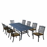 Morocco Aluminum 9 Piece Dining Set with Cushions