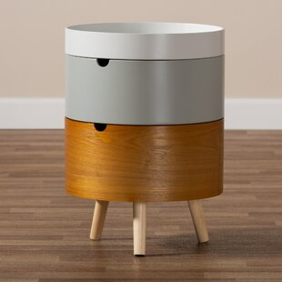 Carmean Mid-Century Modern 3-Tier Wood Nightstand by George Oliver