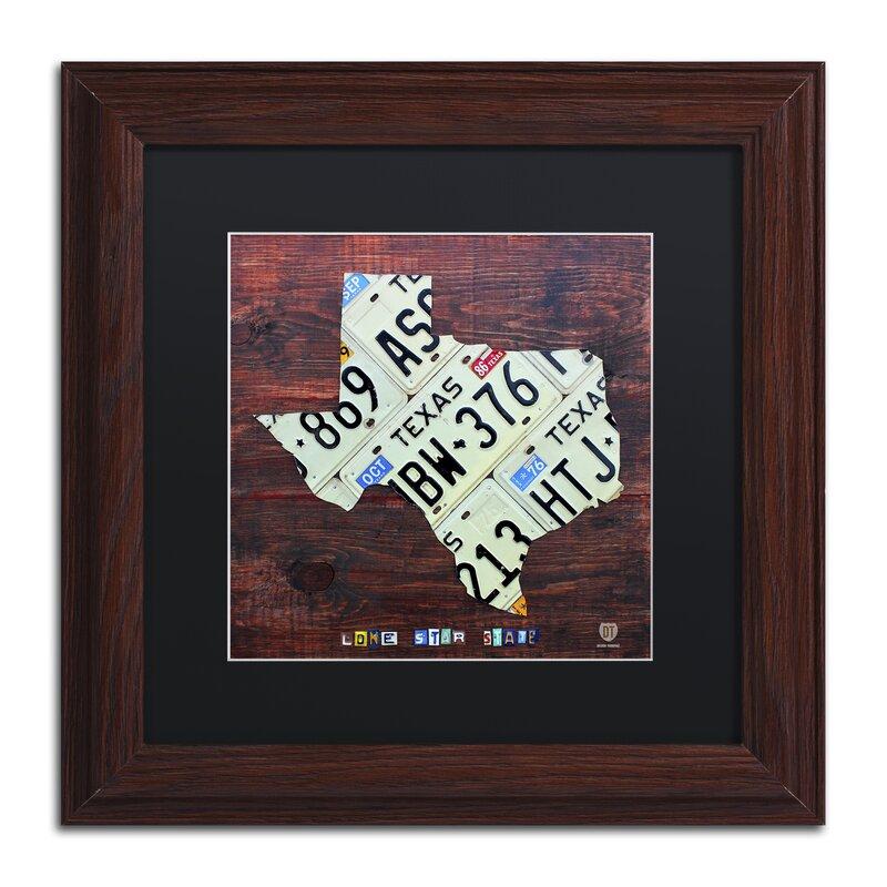 Latitude Run Texas License Plate Map Large By Design Turnpike Framed Graphic Art Wayfair