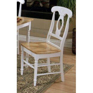 Ilka Solid Wood Dining Chair (Set of 2) August Grove