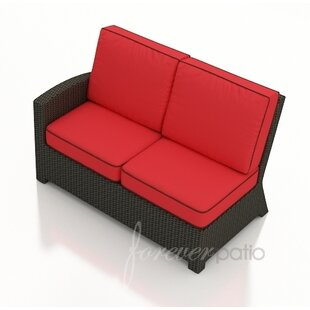 Forever Patio Barbados Left Arm Facing Sectional Loveseat with Cushions