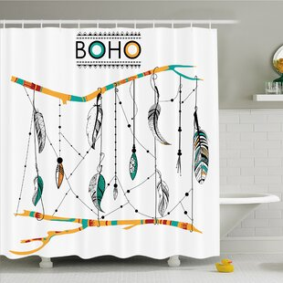 Native American Classic Retro Feathers Hippie Old Culture Ritual Artwork Shower Curtain Set