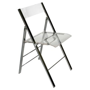 Ebern Designs Spicer Acrylic Foldable Side Chair (Set of 2)