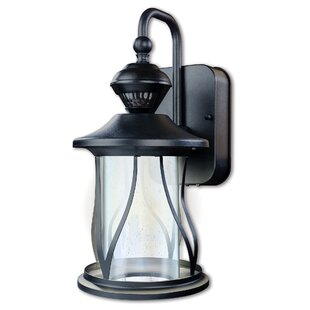 Pelayo LED Outdoor Wall Lantern with Motion Sensor by Canora Grey