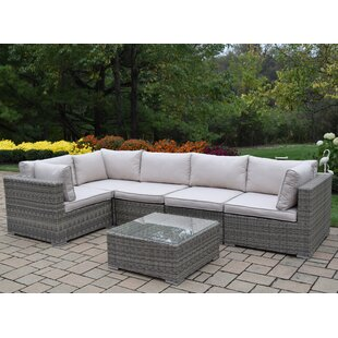 Oakland Living Borneo 6 Piece Sectional Set with Cushions