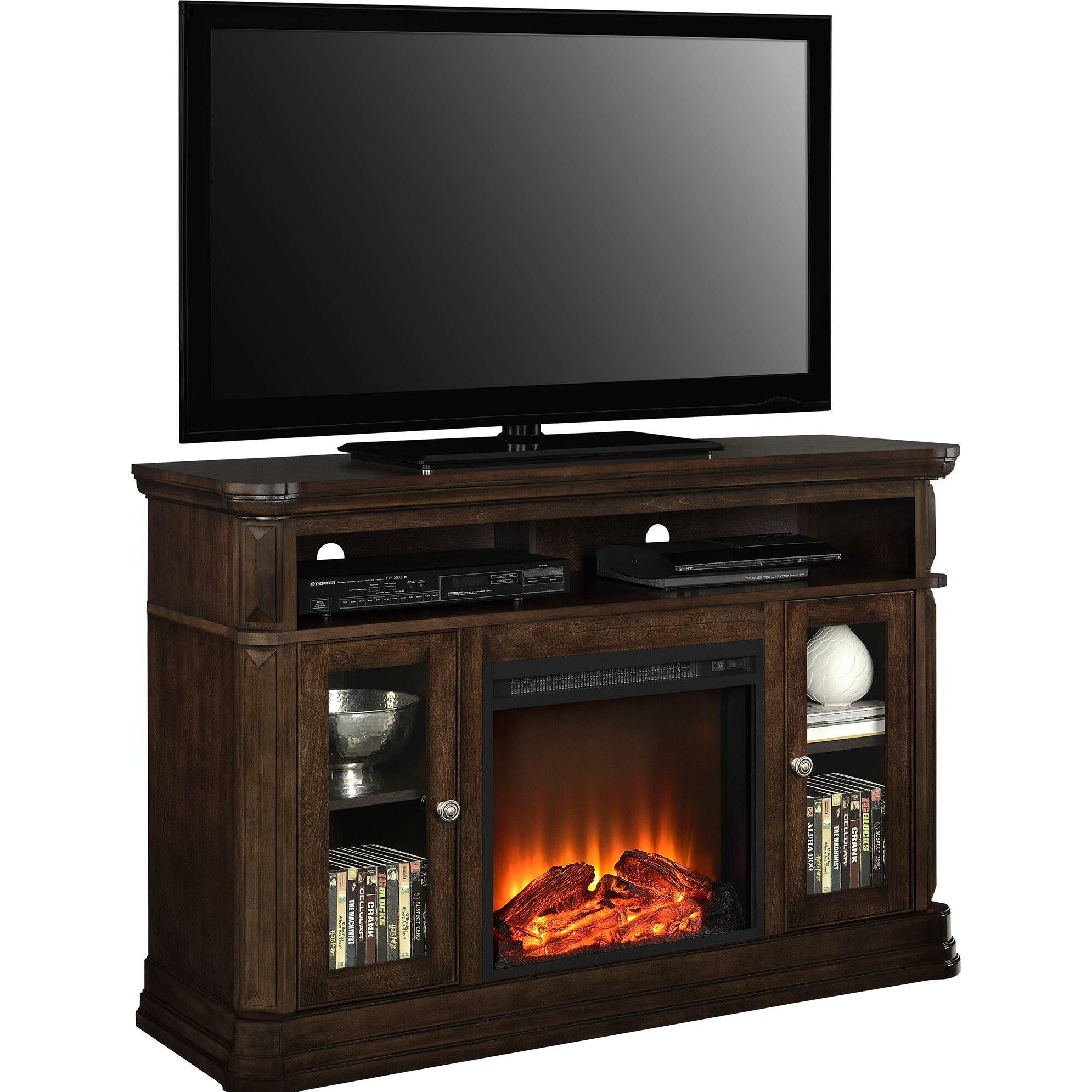 Astoria Grand Ganado Tv Stand With Electric Fireplace