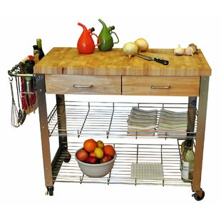 Thielsen Kitchen Cart with Wood Top