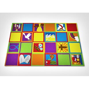 Find the perfect Christian Squares Sunday School Area Rug By Kid Carpet