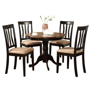Artin 5 Piece Solid Wood Dining Set Andover Mills