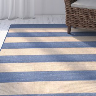 Kensa Blue/Beige Indoor/Outdoor Area Rug By Breakwater Bay