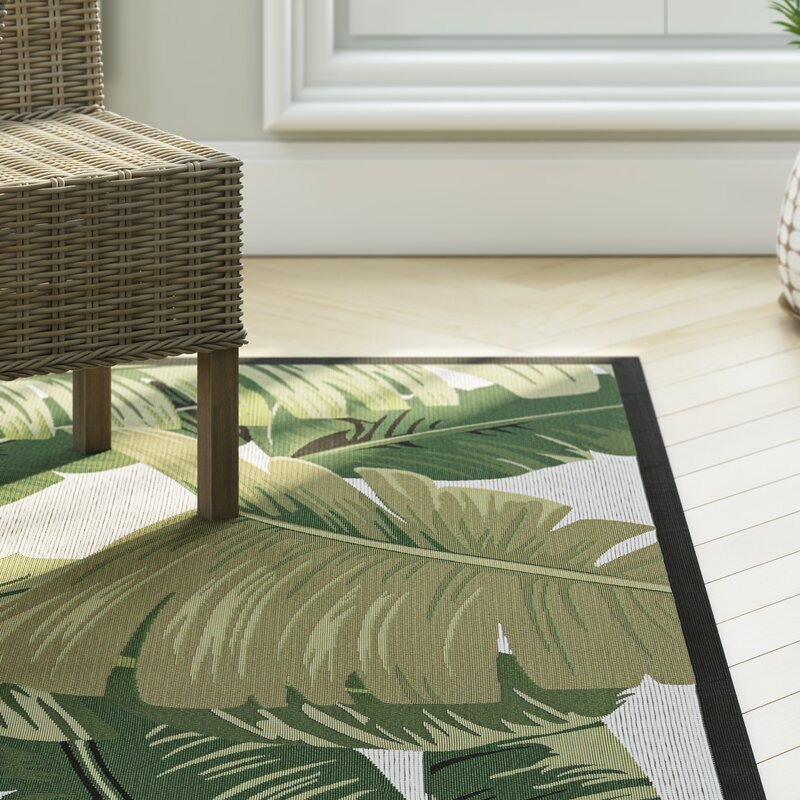 Maren Palm Lily Hunter Green/Ivory Indoor/Outdoor Area Rug