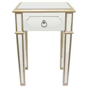 Maciejewski Wood Mirror End Table with St..