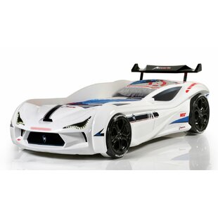 Mia Kids Race Twin Car Bed with Euro Mattress
