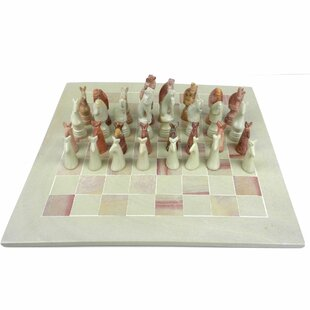 Hand Carved Soapstone Animal Chess Set By Global Crafts