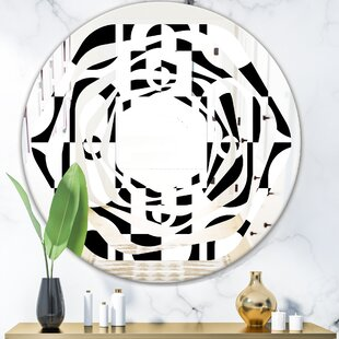 February Choice Best Luxury Vanity Mirror For Home East Urban Home Circular Pattern Vii Triple C Modern Frameless Wall Mirror