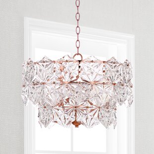 House of Hampton Thatcham 4-Light Crystal Chandelier